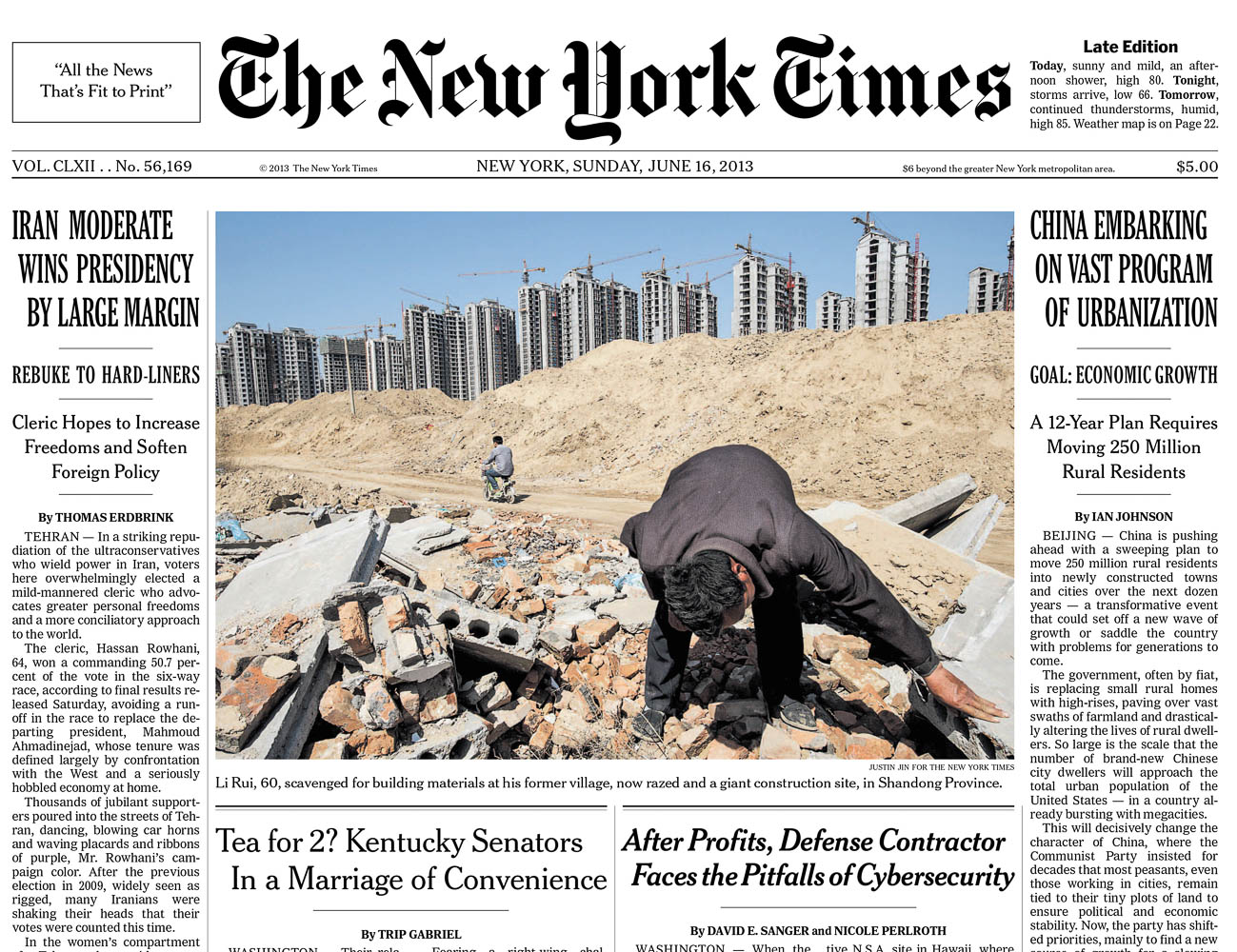 The New York Times published the story in the paper and online.
